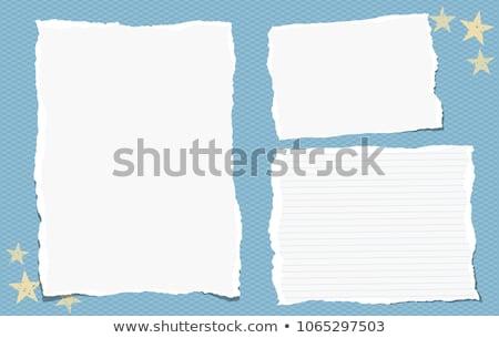 Blu carta da lettere bianco Foto d'archivio © devon