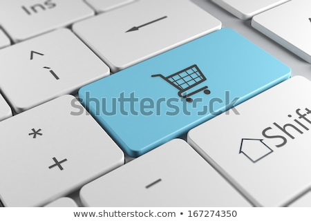 Bleu internet commerce clé clavier 3D Photo stock © tashatuvango