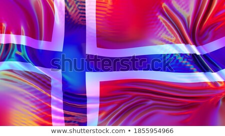 Norway LGBT flag. Norwegian Symbol of tolerant. Gay sign rainbow Stock photo © popaukropa
