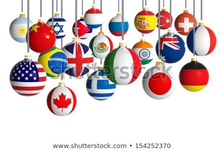 Zdjęcia stock: Wiszący · kraju · banderą · ilustracja · biały