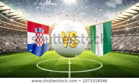 Futebol combinar Croácia vs Nigéria futebol Foto stock © Zerbor