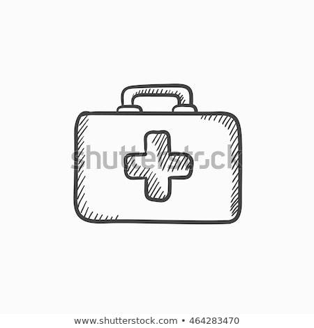 Stock fotó: Illusztráció · izolált · kéz · elsősegély · ikon · kereszt