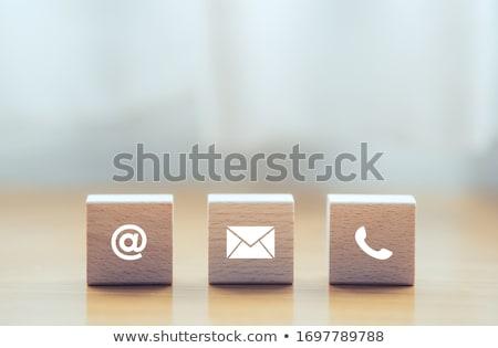 Kapcsolatfelvétel szalag design sablon vékony vonal ikonok Stock fotó © Genestro