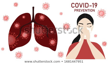 A Vector of Girl Lung Infection Stock photo © bluering