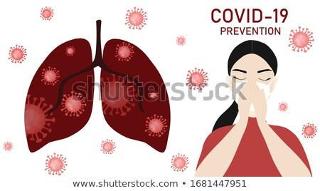 garganta · inflamada · pessoa · detalhado · desenho · médico · corpo - foto stock © bluering