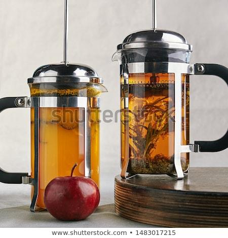 Manzana jarabe madera miel dulce delicioso Foto stock © M-studio