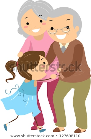 Famille grands-parents illustration paire fille Photo stock © lenm