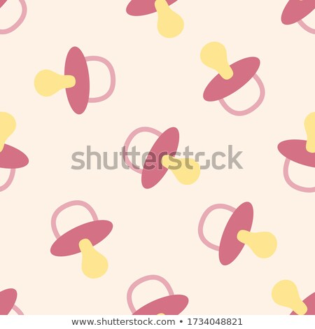 Seamless pattern with baby boy items. Newborn clothes and accessories stock photo © lemony