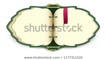 Büyü açık kitap kırmızı imi yalıtılmış beyaz Stok fotoğraf © orensila