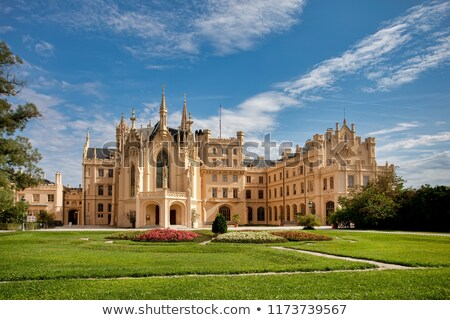 Stock photo: State chateau Lednice in South Moravia, Czech Republic