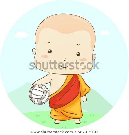 子供 少年 僧侶 バレーボール 実例 ストックフォト © lenm