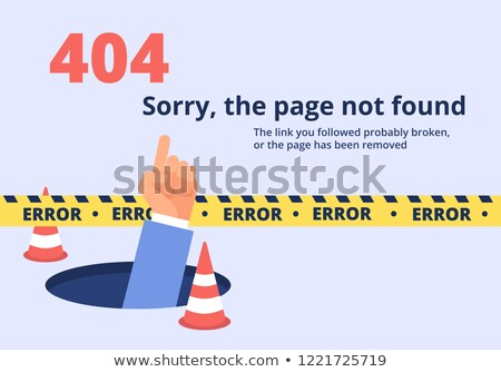 error 404 page   flat design style colorful illustration stock photo © decorwithme
