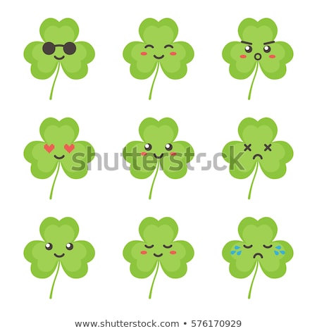 angry cartoon clover stock photo © cthoman