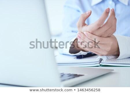 クローズアップ 手 痛い 手首 ノートパソコン ストックフォト © AndreyPopov