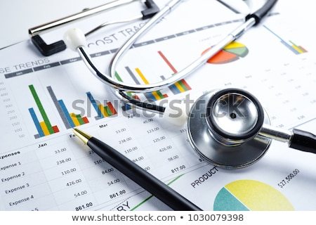 Document with Statistical Information Color Card Stock photo © robuart