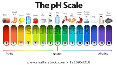 A pH scale on white background Stock photo © bluering