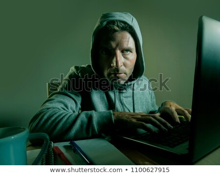 hacker having problem with computer cyber attack Stock photo © dolgachov