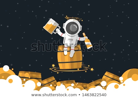 Cartoon Drunk Spaceman  Stock photo © cthoman