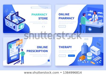 vector · isometrische · drogist · apotheek · gebouw · icon - stockfoto © tarikvision