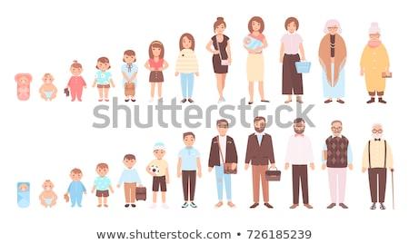 Ludzi starzenie się życia medycznych symbol wiek Zdjęcia stock © Lightsource