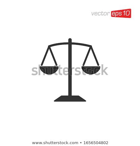 Yasal imzalamak dizayn terazi adalet simge Stok fotoğraf © olivier_le_moal