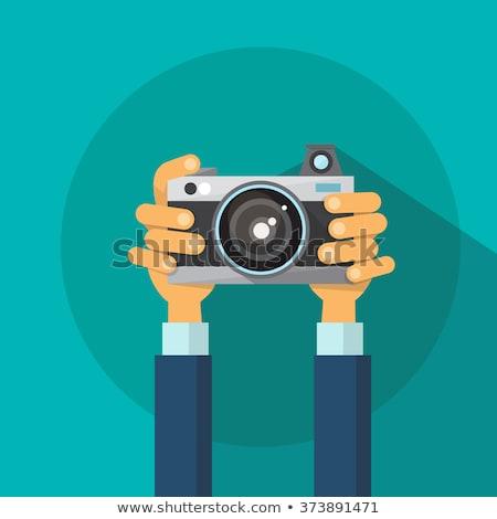 Paparazzi Fotografia kamery nowoczesne cyfrowe Zdjęcia stock © robuart