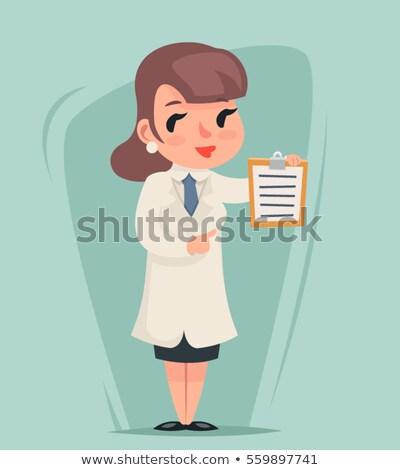 Cartoon медсестры буфер обмена иллюстрация Сток-фото © bennerdesign