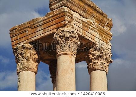 Ruínas Líbano arquitetura antigo coluna cidade Foto stock © benkrut