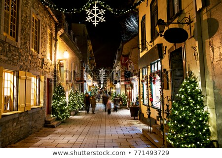 Petit Champlain at Lower Old Town at night on christmas event Stock photo © Lopolo