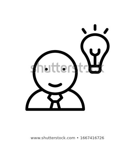 Elektrik ampul kadın profil vektör Stok fotoğraf © robuart