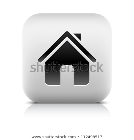 Application button home symbol sign. Black rounded square shape  stock photo © kyryloff
