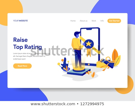 Top-ranking concept landing page. Stock photo © RAStudio