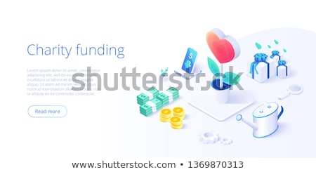 Volunteering concept vector isometric illustration. Stock photo © RAStudio