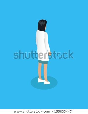 Hölgy orvos orvosi képviselő izometrikus ikon Stock fotó © robuart