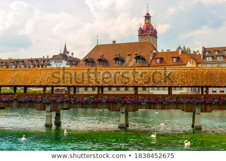 city of lucerne colorful lake waterfront and landmarks view stock photo © xbrchx