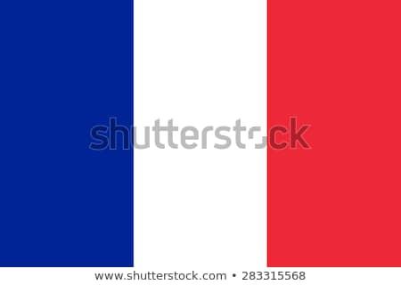 Franciaország zászló fehér nagy szett szív Stock fotó © butenkow