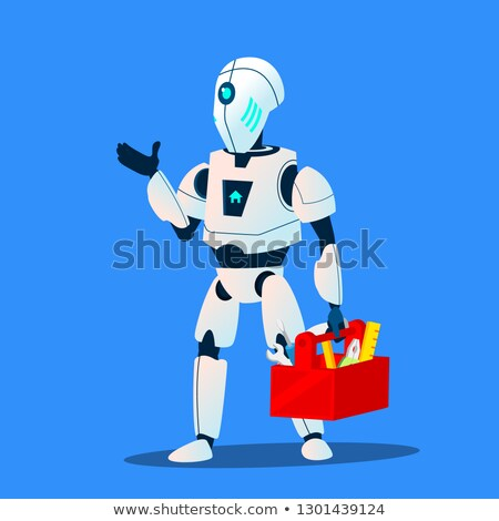 robot repair man master service vector isolated illustration stock photo © pikepicture