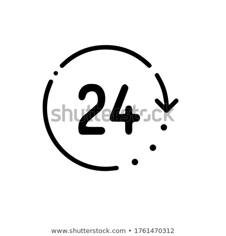 round the clock icon. 24 hours working. Linear style. Vector illustration isolated on white backgrou stock photo © kyryloff