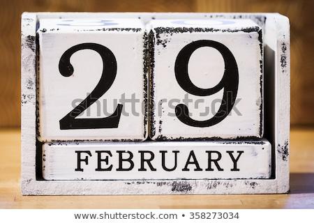 Cubes calendar 29th February Stock photo © Oakozhan