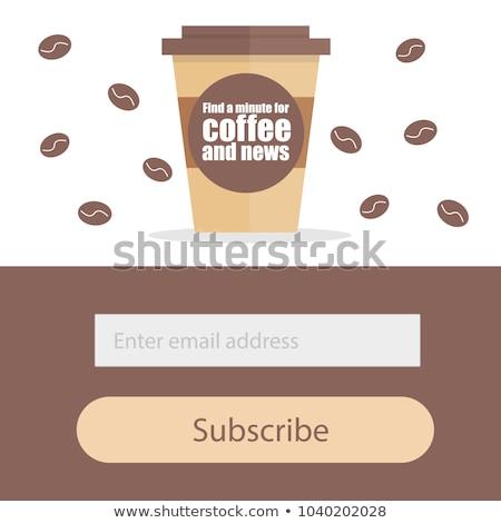 чашку · кофе · кнопки · вектора · продовольствие · ресторан · зеленый - Сток-фото © natali_brill