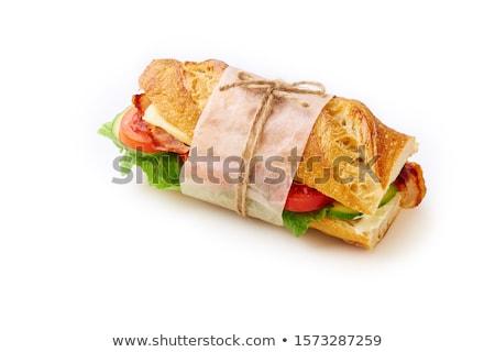 gezonde · sandwich · salade · illustratie · ontwerp · achtergrond - stockfoto © colematt