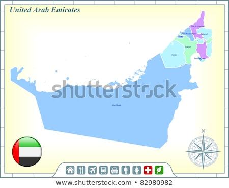 Ház zászló Egyesült Arab Emírségek csetepaté fehér házak Stock fotó © MikhailMishchenko