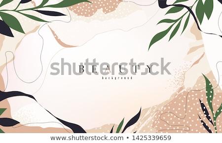 春 抽象的な フローラル チラシ テンプレート 場所 ストックフォト © orson