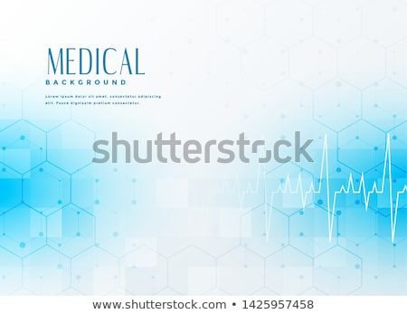 medical healthcare blue background with cardiograph Stock photo © SArts