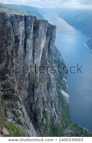 Stock photo: Mountain view from Preikestolen cliff, norway