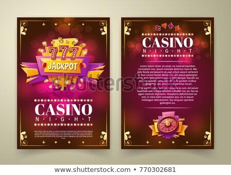 казино Flyer веб баннер Сток-фото © Anna_leni