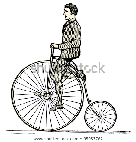 sketch of penny farthing bicycle isolated on white background stock photo © arkadivna