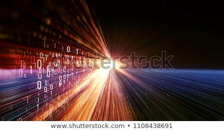 двоичный код данные туннель 3d иллюстрации синий связи Сток-фото © make