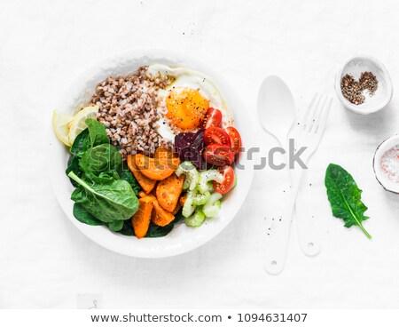 Egészséges tápláló ebéd vacsora grillezett camembert Stock fotó © grafvision