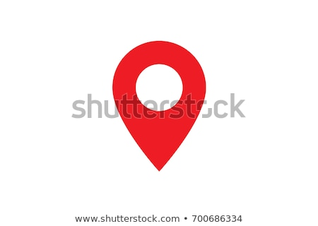 Pin ikona lokalizacja wektora podpisania odizolowany Zdjęcia stock © NikoDzhi